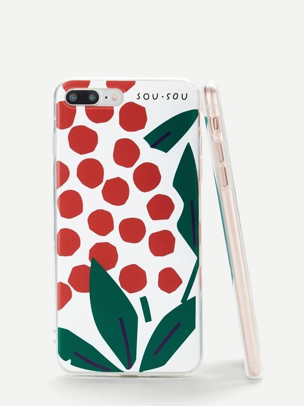 Leaf & Pot Print iPhone Case
