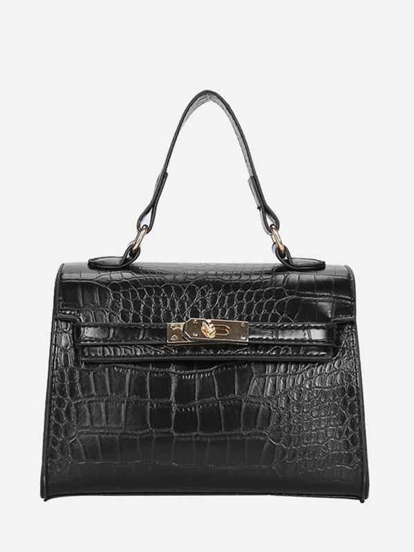 Croc Embossed Grab Bag