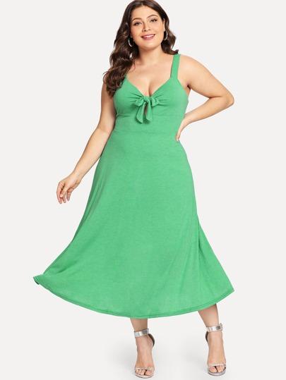 148c51585 غير الرسمي الصاف رباط الظهر الأخضر فساتين كبيرة الحجم
