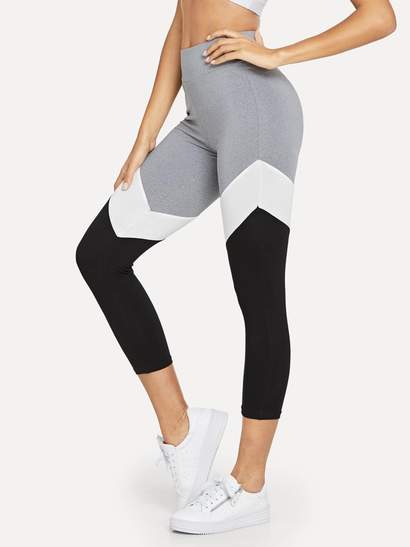 Wide Waistband Cut and Sew Leggings, Giulia