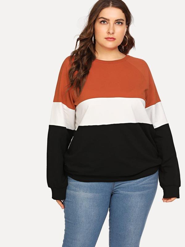 Plus Cut And Sew Sweatshirt, Franziska