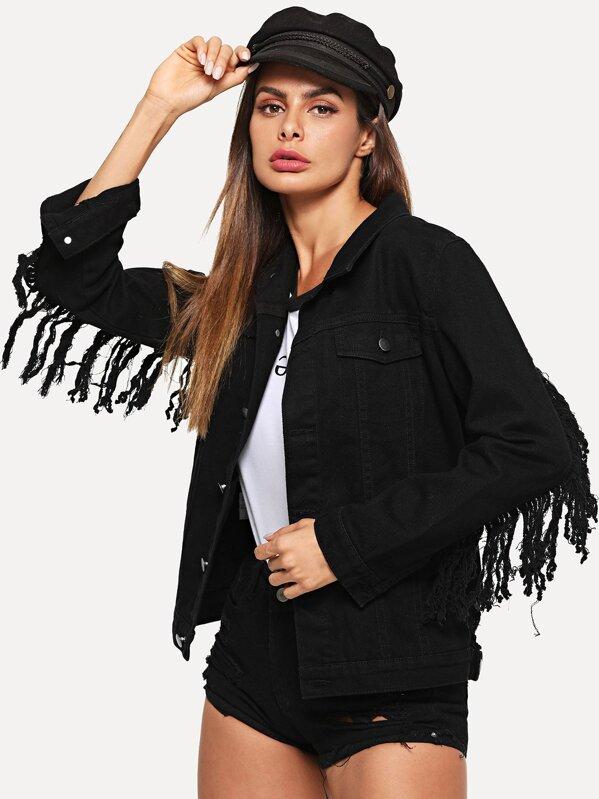 Жакет из черной вышивки