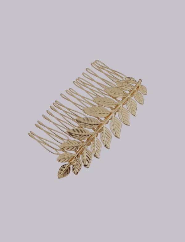 Metal Leaf Hair Pin