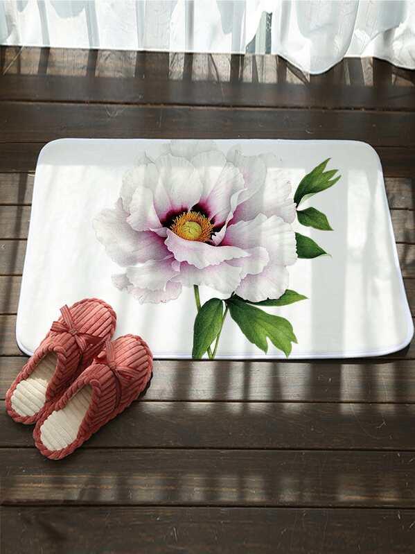 Floral Pattern Floor Mat