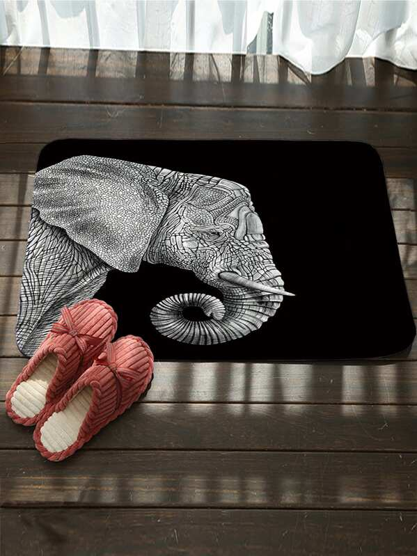 Elephant Pattern Floor Mat