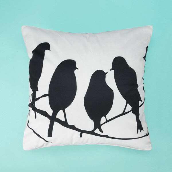 Bird Print Pillowcase 1PC