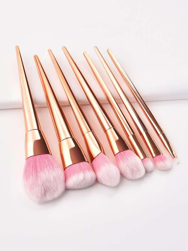Metallic Makeup Brush 7pcs