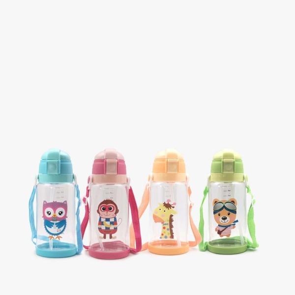 Kids Random Color Cartoon Bottle 1pc 680ml, Multicolor