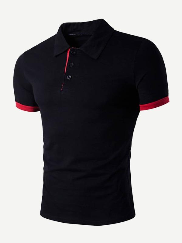 Men Solid Polo Shirt