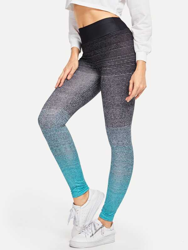 Wide Waistband Ombre Leggings, Masha