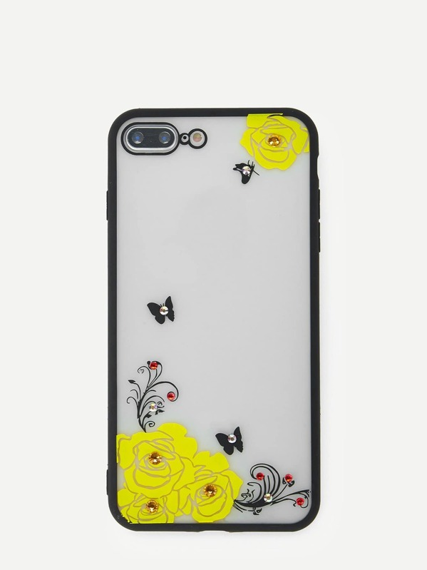 Flower & Butterfly iPhone Case