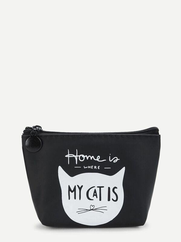 Cat Print Makeup Bag
