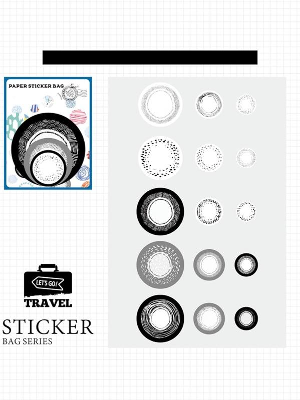 Round Sticker 45sheets, null
