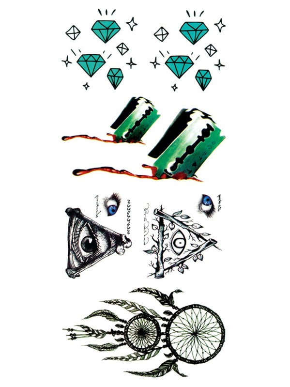 Dreamcatcher & Diamond Tattoo Sticker, null