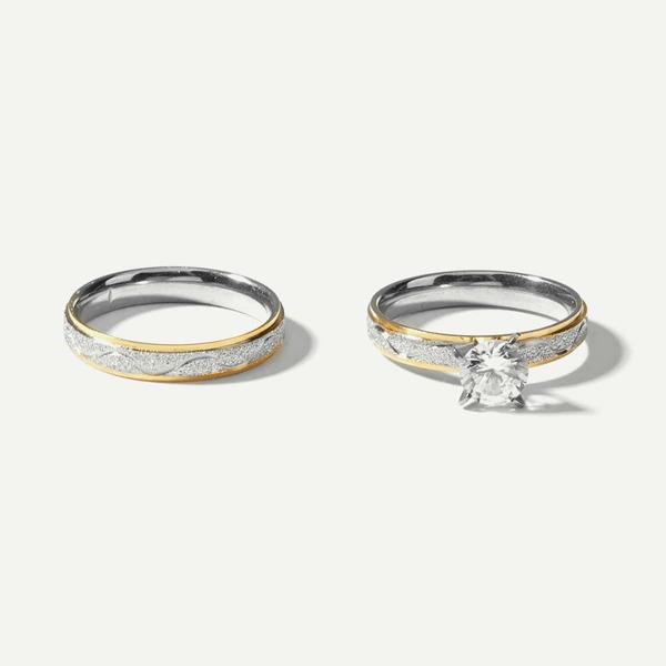 Men Double Layered Metal Ring