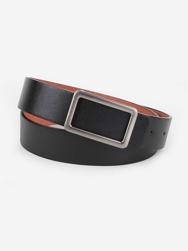 Men Metal Buckle Belt, null