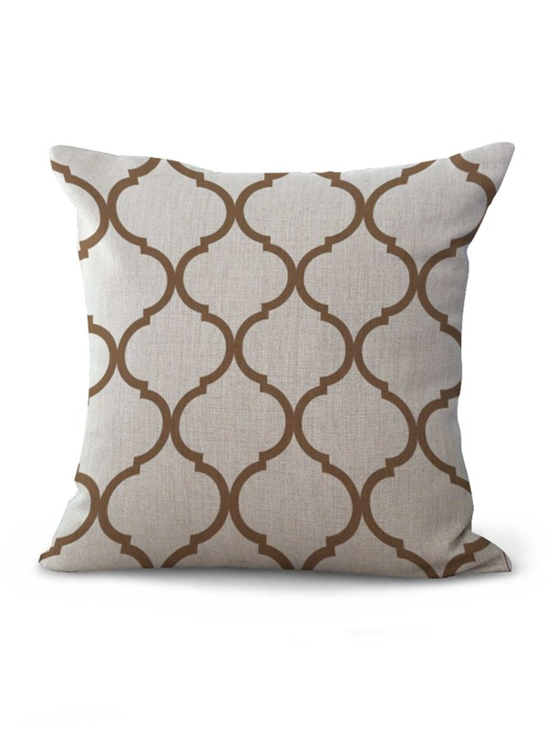 Geometric Pattern Cushion Cover, null