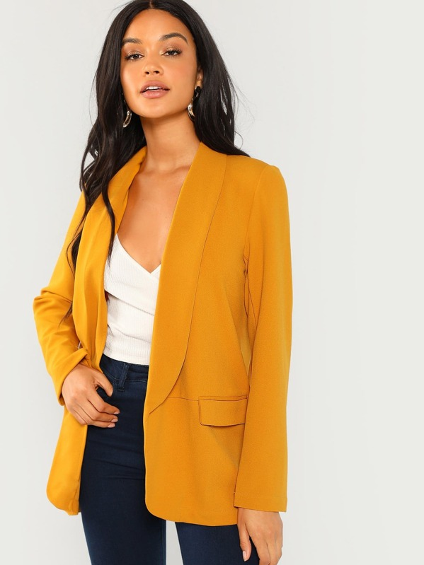 Solid Shawl Collar Blazer, Juliette