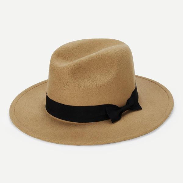 Bow Decorated Panama Hat