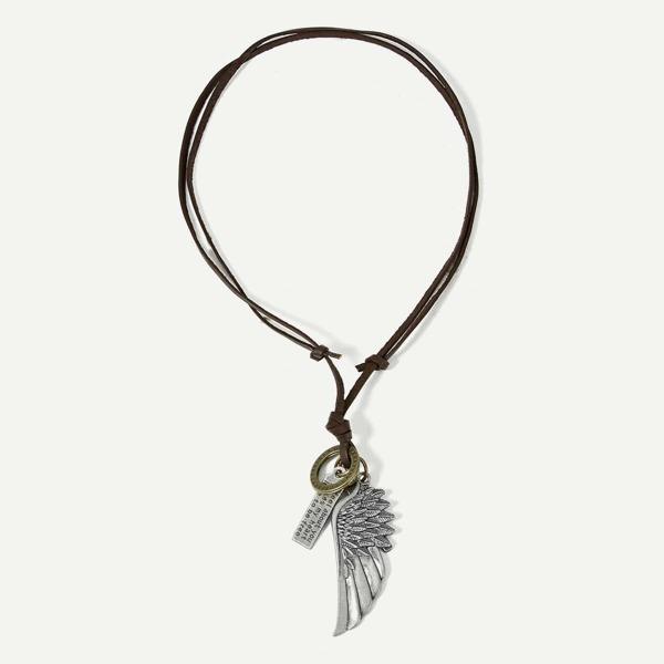 Men Wing Pendant Necklace