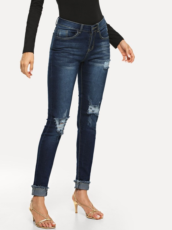 Raw Hem Ripped Jeans, Andy
