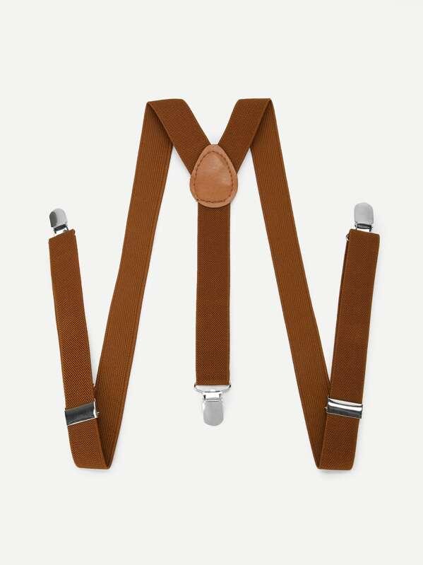 Men Plain Suspenders, null