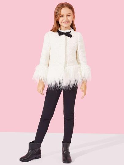 Giacca con finta pelliccia per bambina ebd6cee5bdd