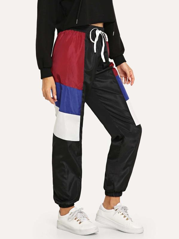 Cut and Sew Drawstring Waist Utility Sweatpants, Mary P.