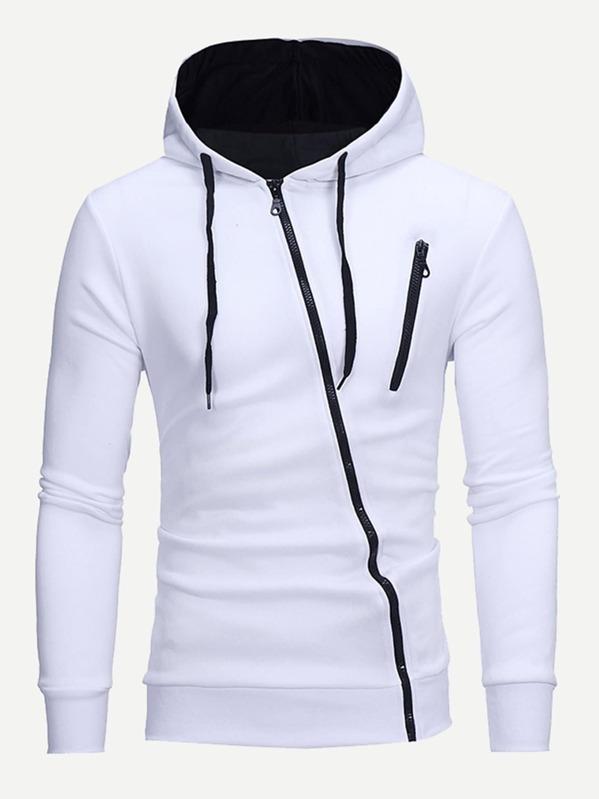 Men Zip Up Hooded Sweatshirt