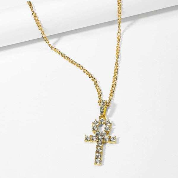 Men Cross Pendant Chain Necklace