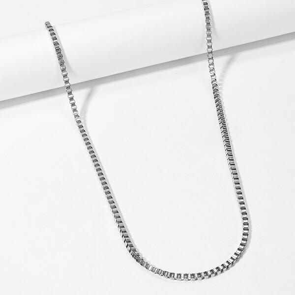 Men Woven Detail Metal Necklace