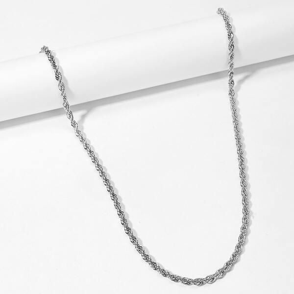 Men Spiral Detail Necklace