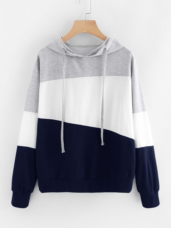 Plus Cut And Sew Hooded Sweatshirt