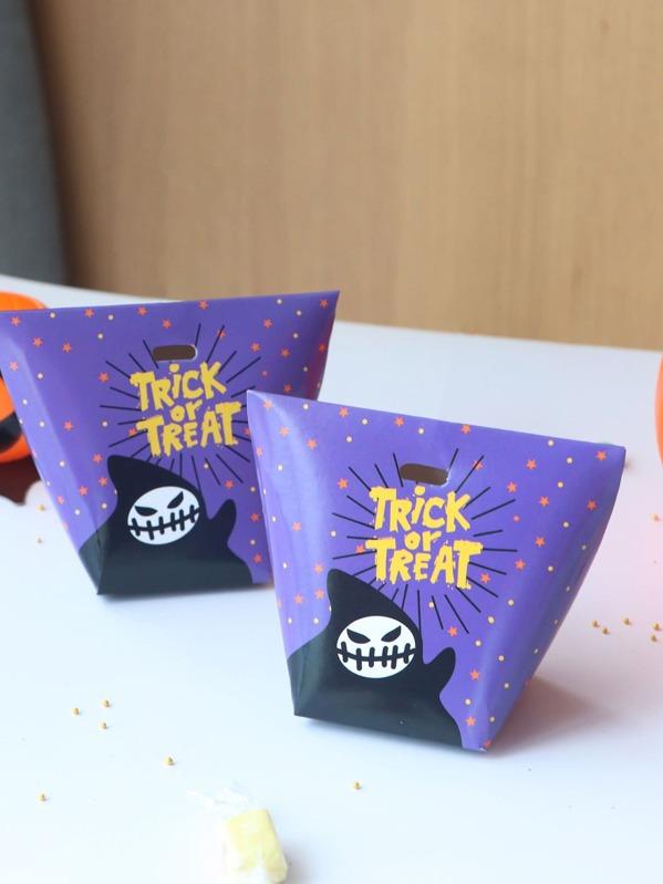 Halloween Slogan & Ghost Print Box 10pcs