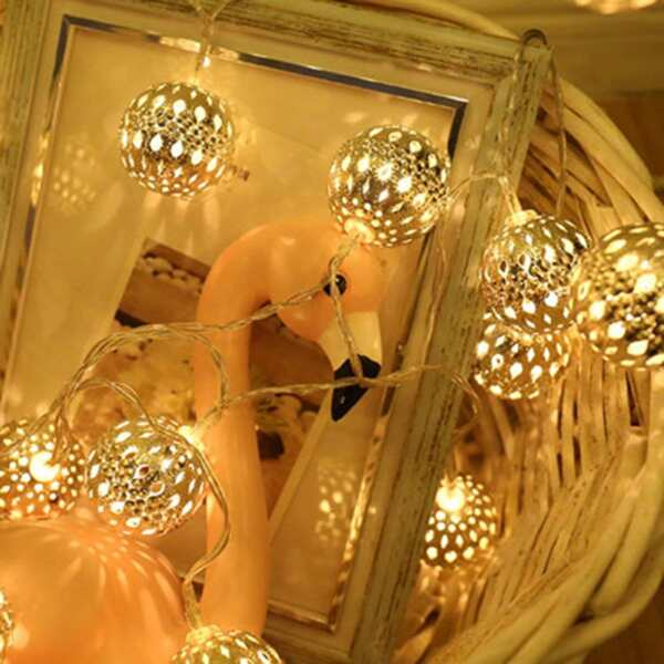 10pcs Lantern Bulb String Light