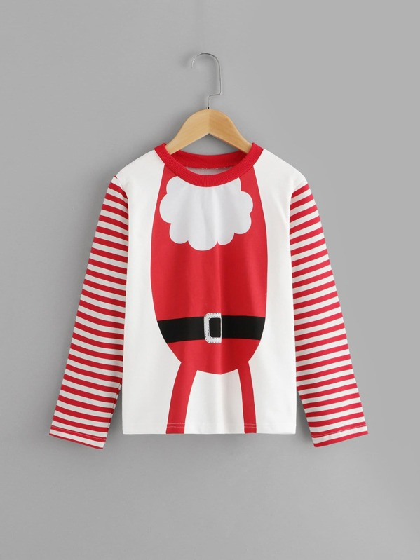 Для маленьких девочек футболка с Рождественским принтом