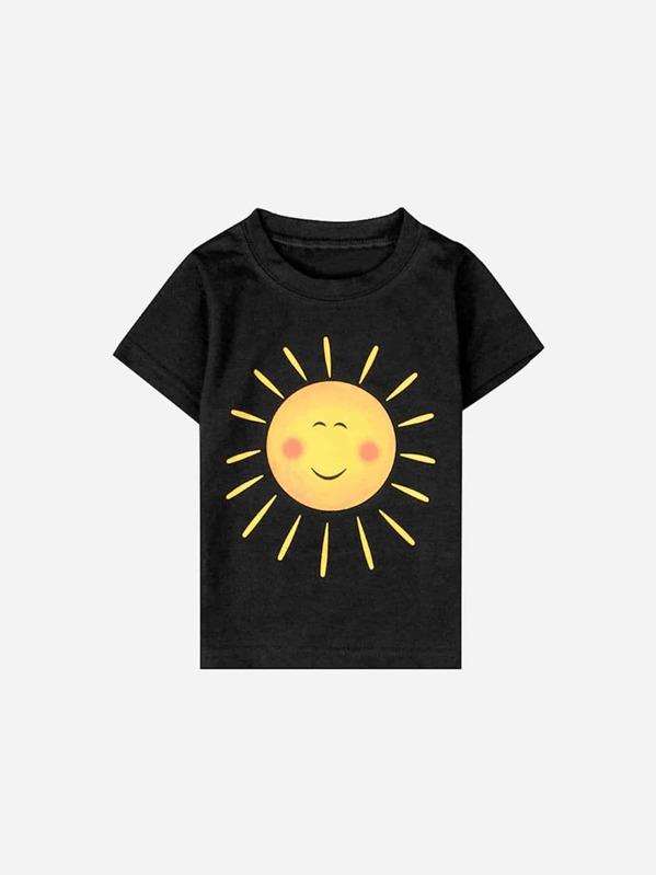 Для маленьких мальчиков футболка с принтом мультфильма