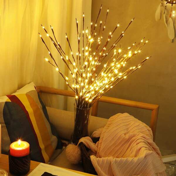 1pc LED Wrapped Lighted Branch