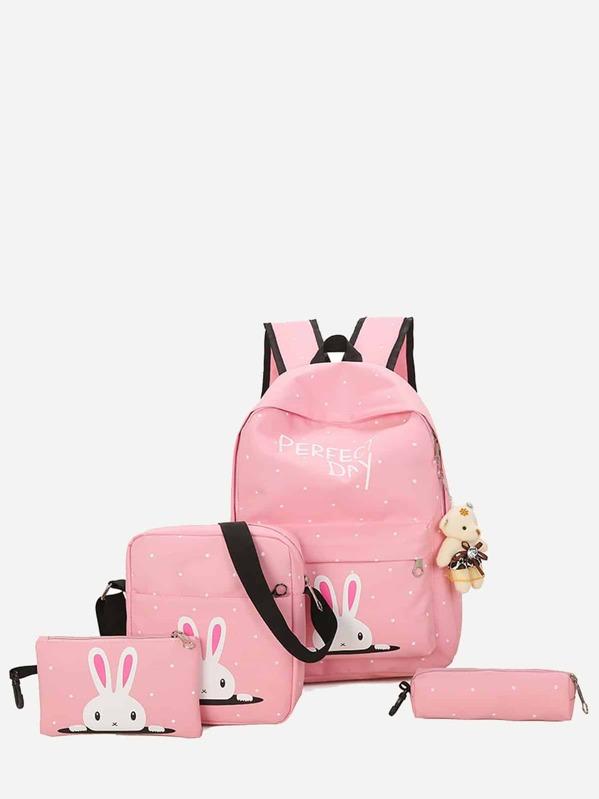 Рюкзак с украшением медведя и пенал для карандашей 4 шт для детей, null