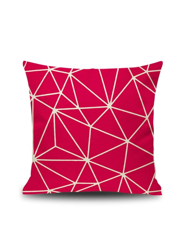 Geometric Pattern Print Cushion Cover, null