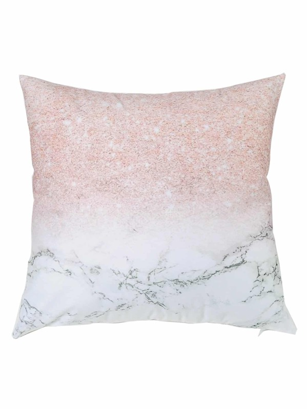 Marble Pattern Cushion Cover, null