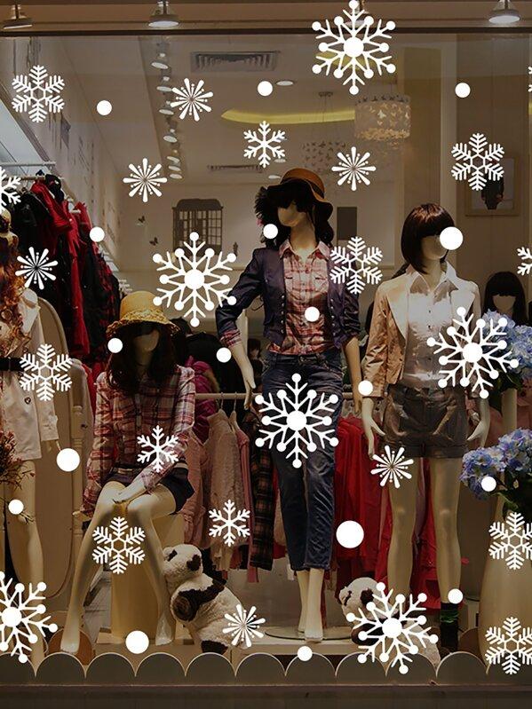 Christmas Snowflake Shaped Wall Sticker, null