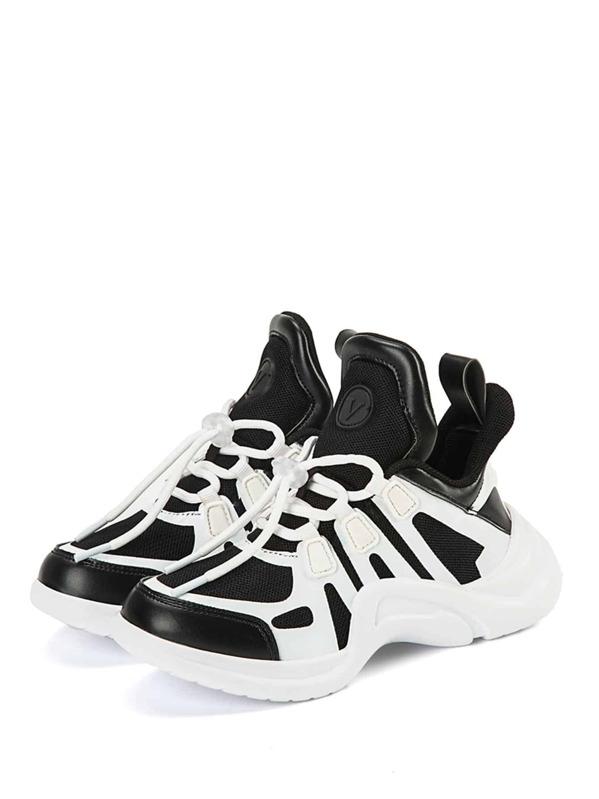 Двухцветные спортивные туфли для малышских детей, null