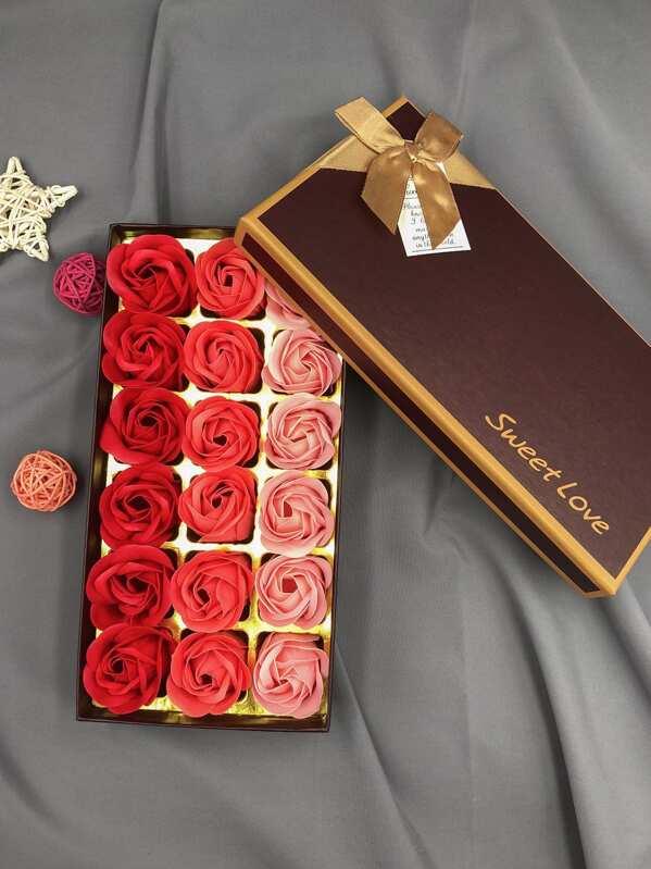 Gift Boxed Soap Flower 18pcs