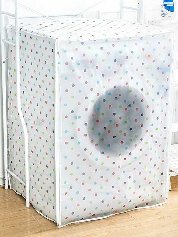 Dot Print Washing Machine Dust Cover