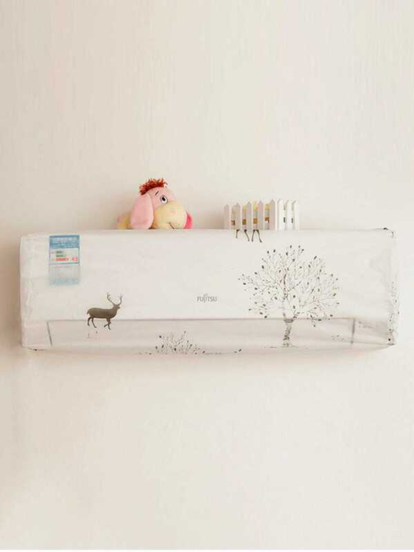 Tree Print Air Conditioner Dustproof Cover