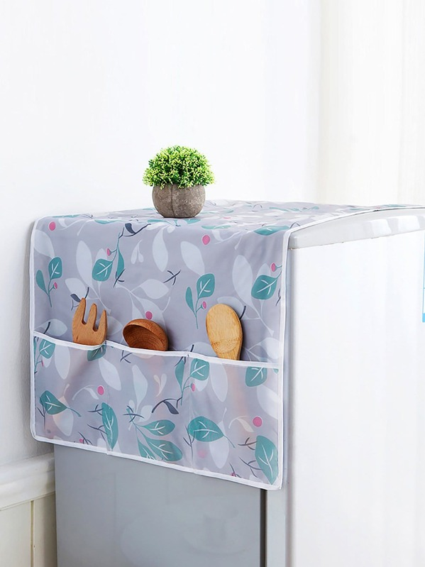 Leaf Print Refrigerator Dust Cover