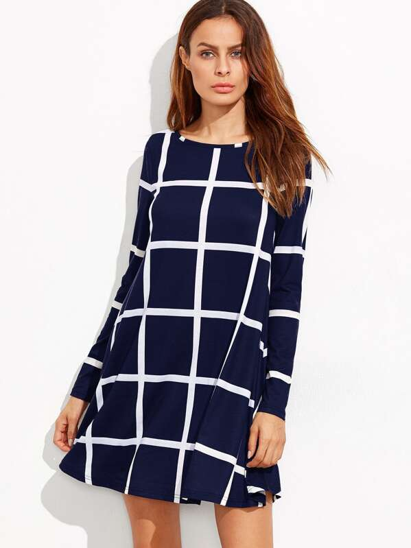 Grid Swing Dress, Andy