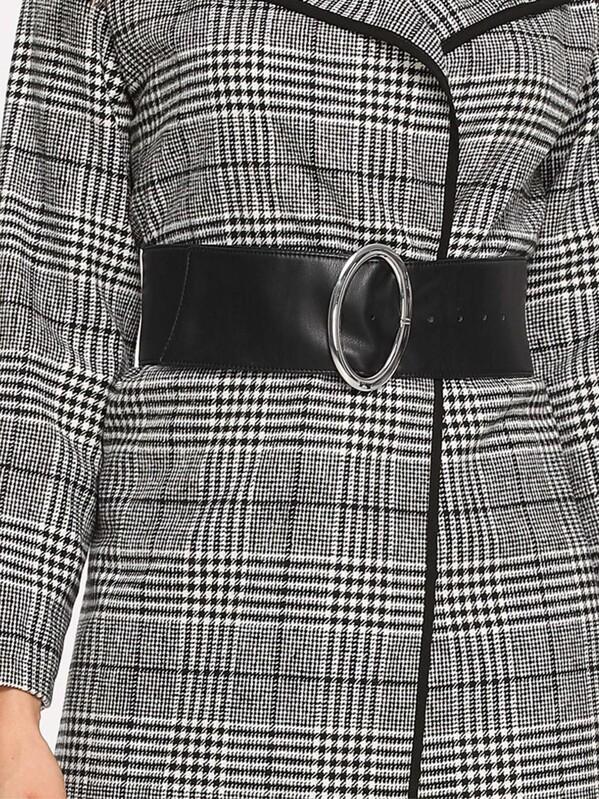 Oval Metal Buckle Belt, null