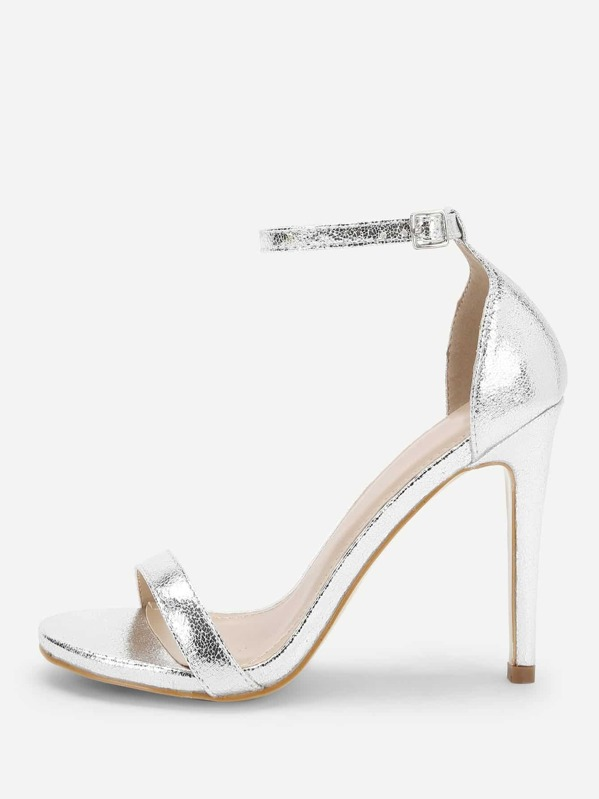 Single Band Ankle Strap Stiletto Heels, null